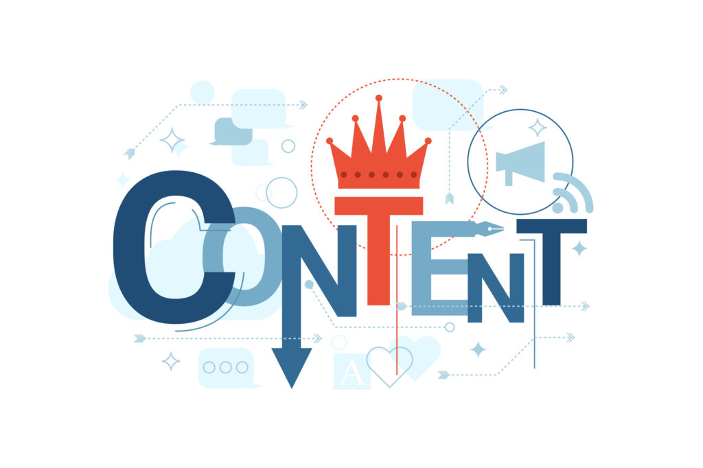 content is king infographic